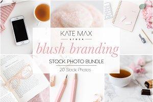 Blush Branding Stock Photo Bundle