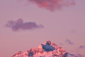 Sunrise over Triglav mountain