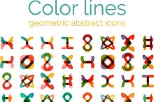 Geometric abstract icons set