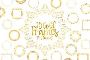 Golden Frame Bundle Digital PNG