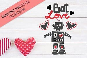Bot Love Valentine SVG Cut File