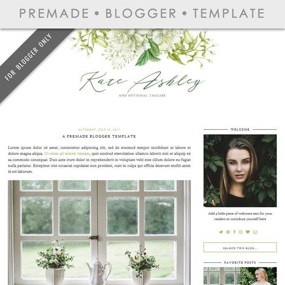 Premade Blogger Template Kate