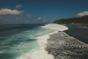 Aerial view beautiful beach. Bali,Indonesia.