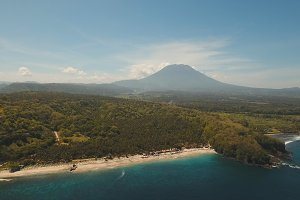 Aerial view beautiful beach. Bali,Indonesia.