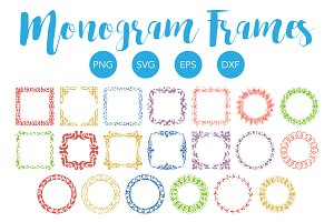 Monogram Frame Collection SVG