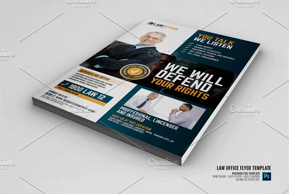 Law And Legal Office Flyer Flyer Templates Creative Market