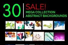 Abstract backgrounds mega set