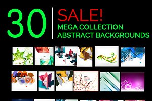 Abstract backgrounds mega set