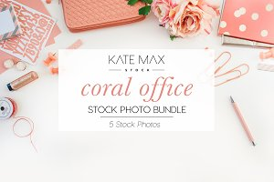 Coral Office Stock Photo Bundle