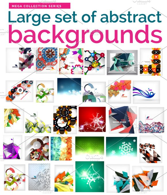 Abstract backgrounds collection - Graphics