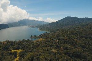 Lake in the mountains, island Bali,Indonesia.