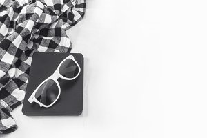 Sunglasses and e-book