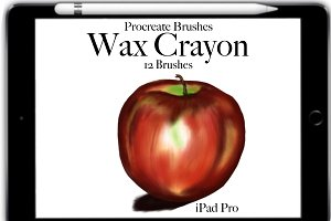 Procreate Wax Crayon  Brushes