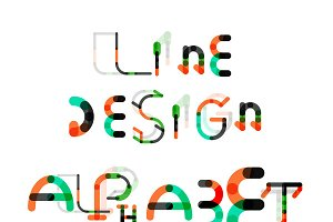 Line design alphabet set 1