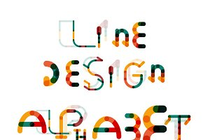 Line design alphabet set 2