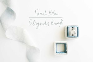 French Blue Wedding Mockup Bundle