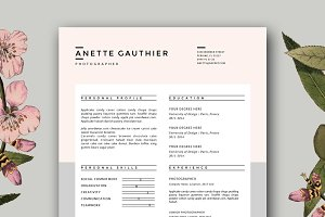 Resume Design | CV Template for Word