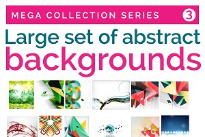 Large set of abstract backgrounds 3