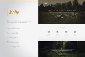 Matte - PSD Website Template