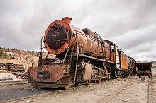 Old abandoned locomotive train