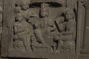 Ancient plaster bas-reliefs