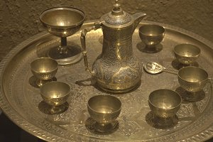 Ancient coffee set.