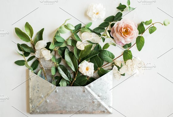 Wedding Mockup Flowers Styled Stock