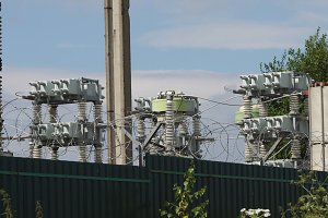 Electrical substation,power station.