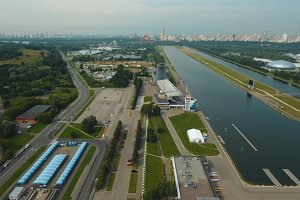 Rowing channel in Moscow.