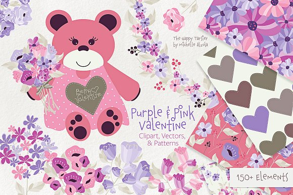 Purple and Pink Valentine