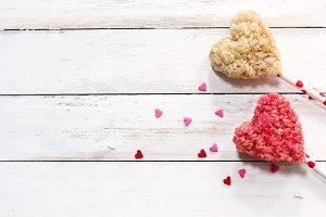 Heart shaped rice Crispy treats