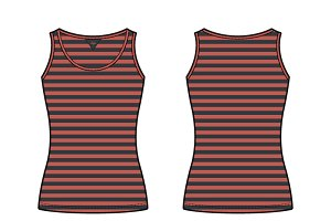 Women Striped Tank Top Vector