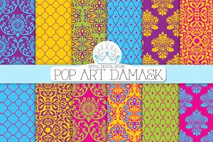 POP ART DAMASK digial paper