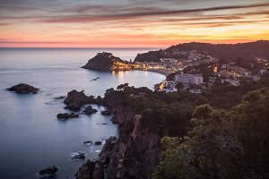 Tossa de Mar sunset - Costa Brava