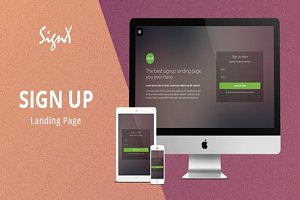Signup Landing Page Template