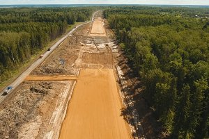 Construction of a new road.