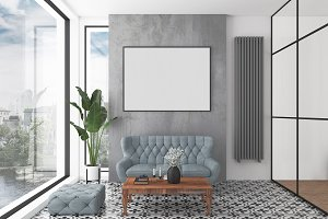 Interior mockup - blank wall mock up