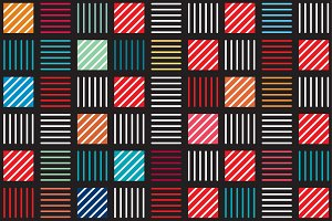 Geometric line repeat color pattern