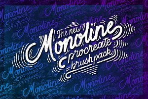 Monoline Procreate Brush Pack