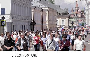 Opposition protest in Russia.