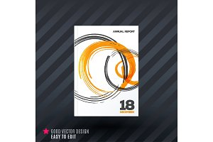 Abstract design of business vector brochure, template cover, poster
