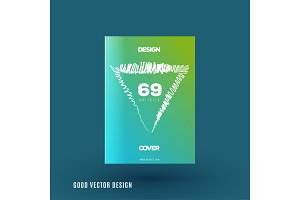 Abstract design of business vector brochure, template cover, playbill