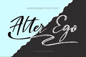 Alter Ego duo font + 2 extra fonts.