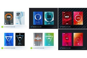 Set of abstract design vector, template cover, poster, flyer
