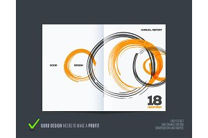 Abstract design of business vector brochure, template cover, poster, flyer