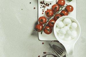 Italian antipasti snack