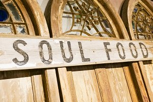 Soul Food Signage on Arches