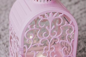 Pink candle box