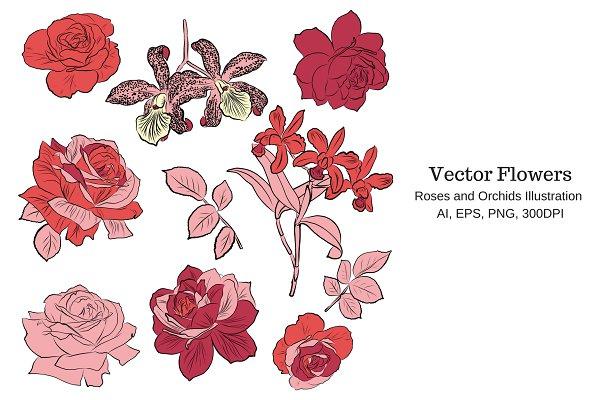 Vector Flowers Clipart
