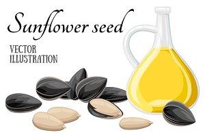 Sunflower seeds vector